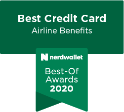 NerdWallet Best-Of Awards 2020 Best Credit Card Airline Benefits